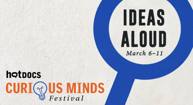 Curious Minds Festival logo with magnifying glass