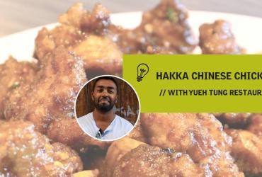 Curious Minds host Suresh Doss and Hakka Chinese Chicken
