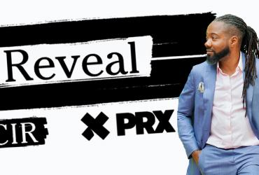Reveal podcast logo and host