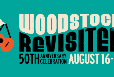 Woodstock Festival logo with bird and guitar